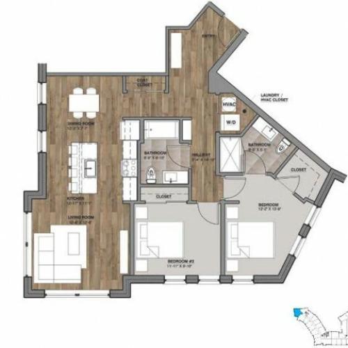 Two Bedroom - Unit B