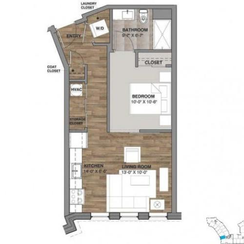 One Bedroom - Unit O