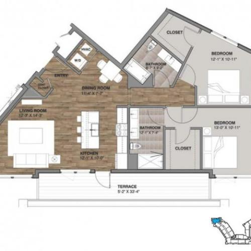 Two Bedroom - Penthouse F