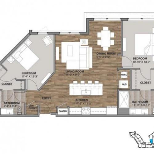 Two Bedroom - Penthouse J