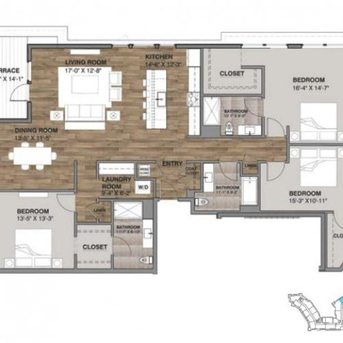 Three Bedroom - Penthouse L