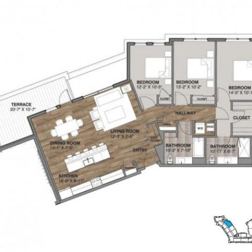Three Bedroom - Penthouse M