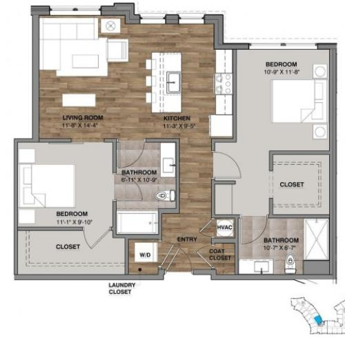 Two Bedroom - Unit R