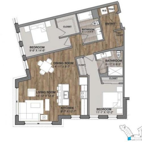 Two Bedroom - Unit I