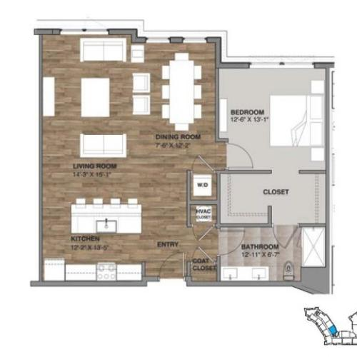 One Bedroom - Penthouse D