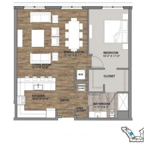One Bedroom - Penthouse E