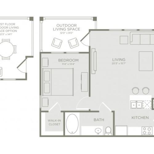 Floor Plan 2 | Apartments Conroe TX | The Towers Woodland