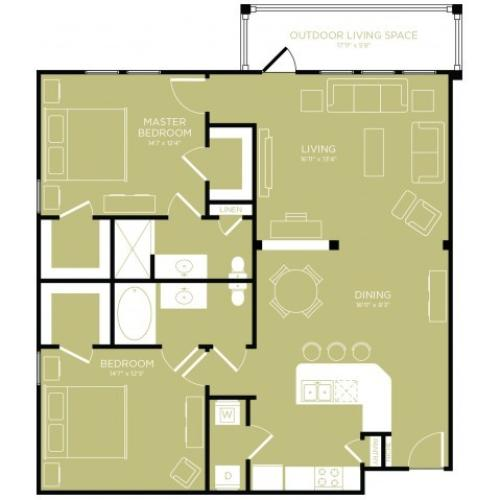 Floor Plan 9 | Apartments Wylie TX | The Mansions at Wylie