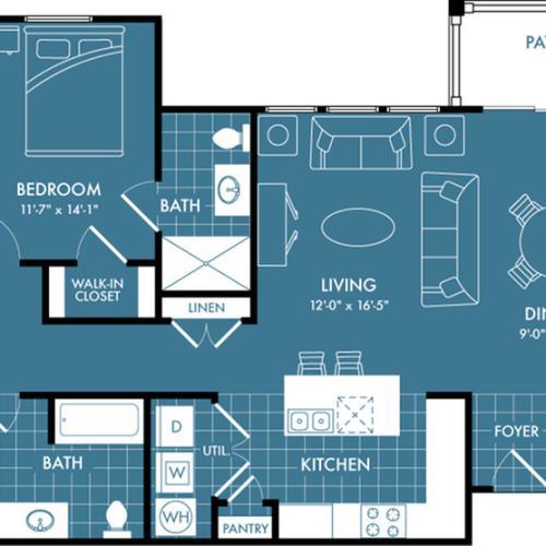 Floor Plan 6 | Apartments In Magnolia | The Estates Woodland