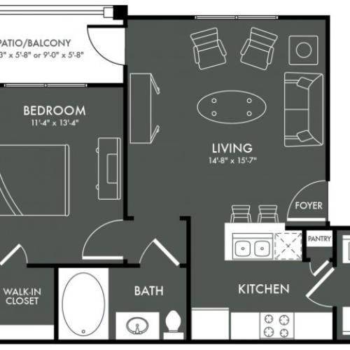 Floor Plan 1 | Magnolia Texas Apartments | The Grand Estates Woodland