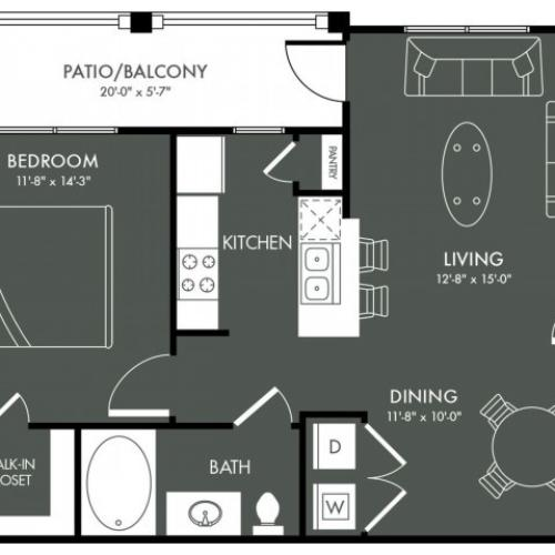 Floor Plan 3 | Apartments Near Magnolia TX | The Grand Estates Woodland