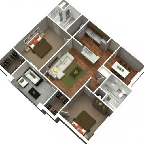 2 Bedroom 2 Bath 1094