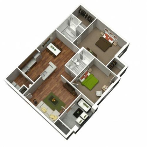 2 Bedroom 2 Bath 1105
