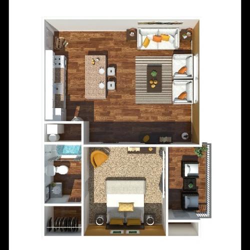 1 Bedroom 645