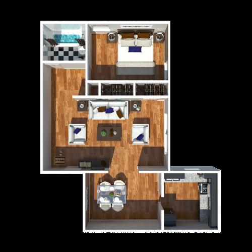 Jefferson 1 Bedroom