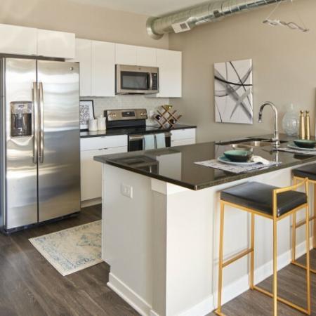 Modern Kitchen | Des Moines Iowa Apartment For Rent | Velocity