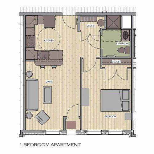 1br, 1 bedroom