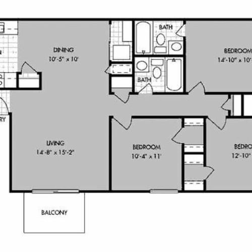 2 Bed / 1.5 Bath Apartment In Bossier City LA