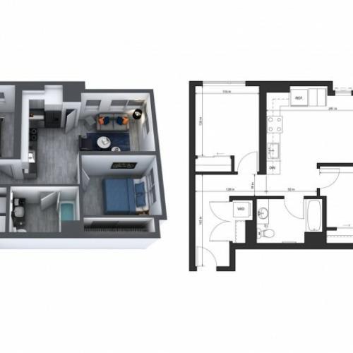 2 Bedrooms 1 Bath Affordable
