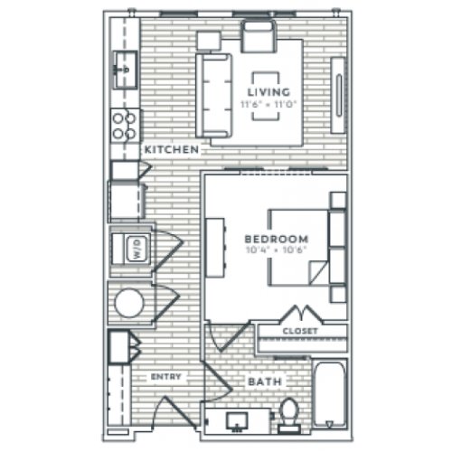 1 Bedroom 1 Bathroom Affordable