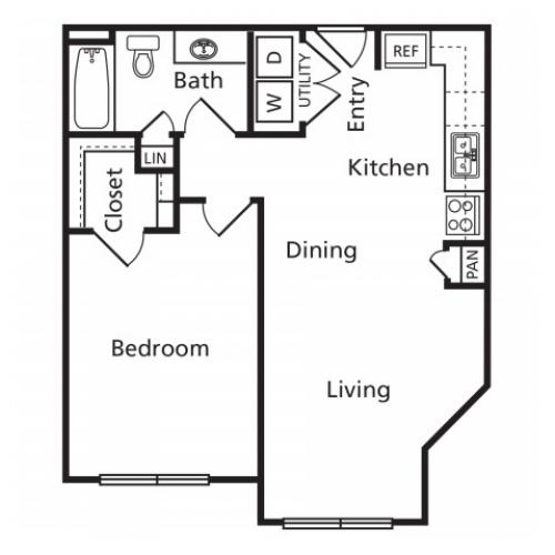 A1 | 1 bed 1 bath | from 665 square feet