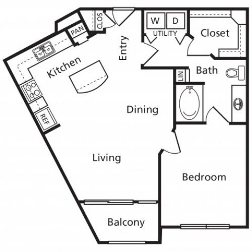 A3 | 1 bed 1 bath | from 709 square feet