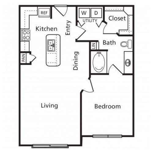 A4 | One Bedroom One Bathroom