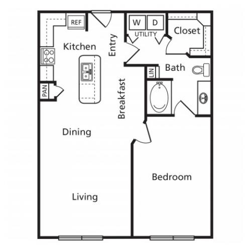 A4A | 1 bed 1 bath | from 813 square feet