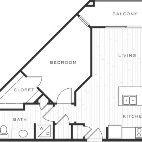 The Martini | 1 bed 1 bath | from 656 square feet