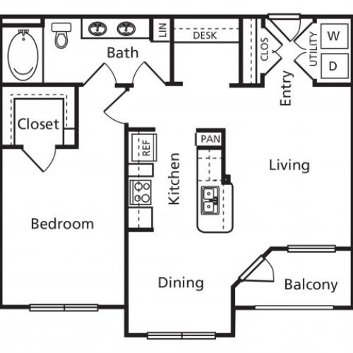 B | One Bedroom One Bathroom