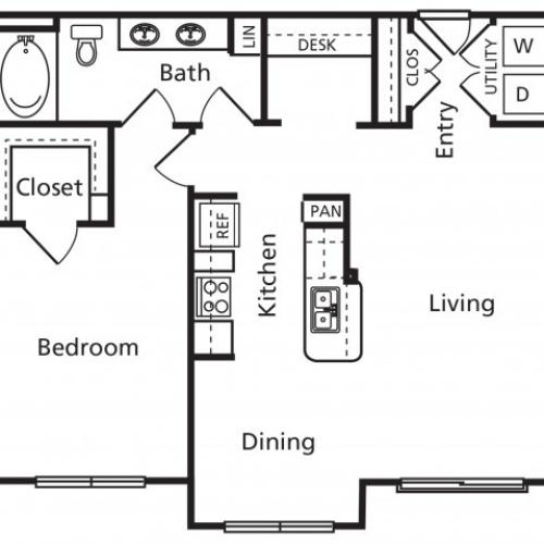 B2 | 1 bed 1 bath | from 864 square feet