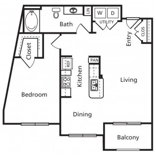 B3 | One Bedroom One Bathroom