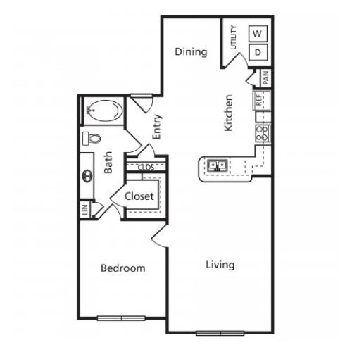 B5 | One Bedroom One Bathroom