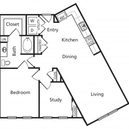 CA | One Bedroom One Bathroom