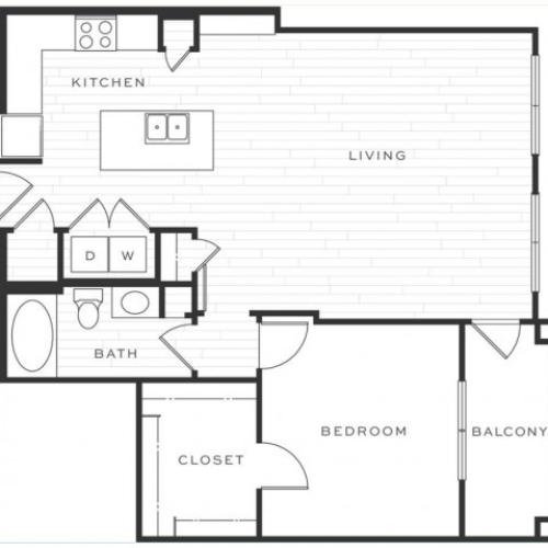 The Mimosa | 1 bed 1 bath | from 920 square feet