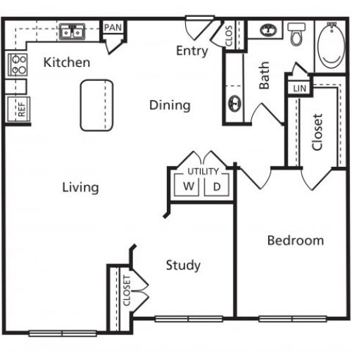 C2A | One Bedroom One Bathroom