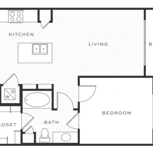 The Side Car b | 1 bed 1 bath | from 721 square feet