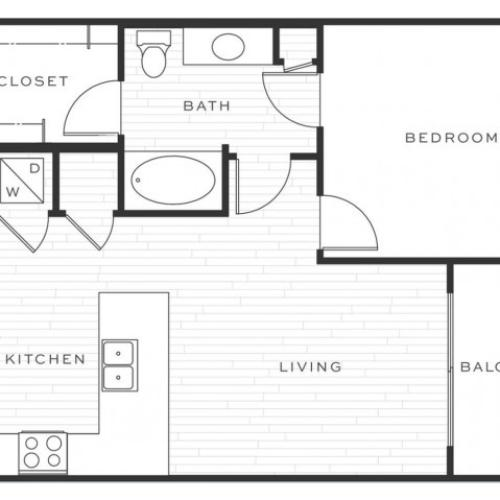 The Mai Tai a | 1 bed 1 bath | from 723 square feet