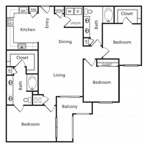 G1 | 3 bed 2 bath | from 1422 square feet