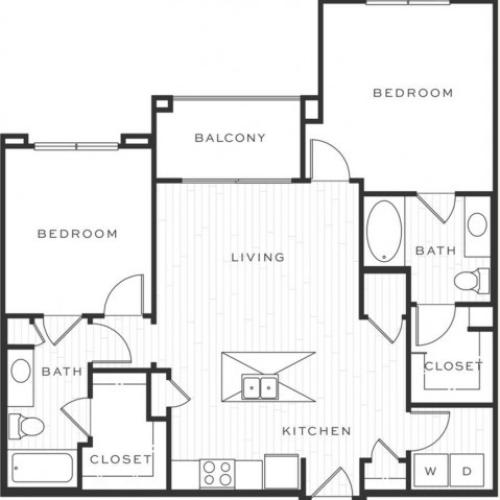 The Mojito a | 2 bed 2 bath | from 1032 square feet