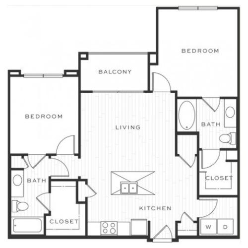The Mojito b | 2 bed 2 bath | from 1032 square feet