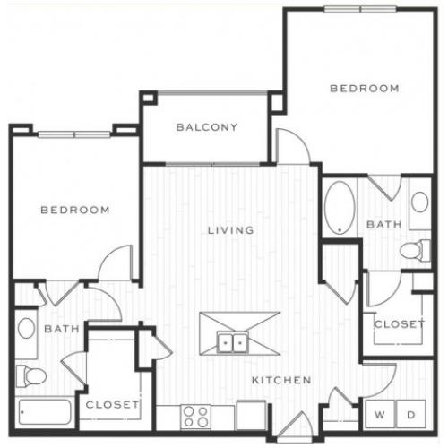The Mojito d | 2 bed 2 bath | from 1032 square feet