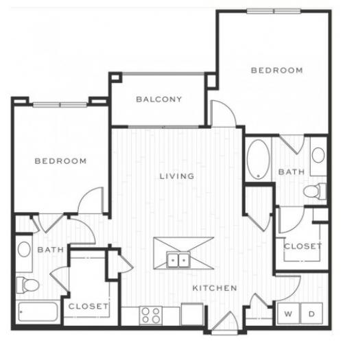 The Mojito e | 2 bed 2 bath | from 1033 square feet