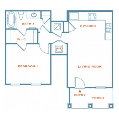 Lantana | 1 bed 1 bath | from 704 square feet
