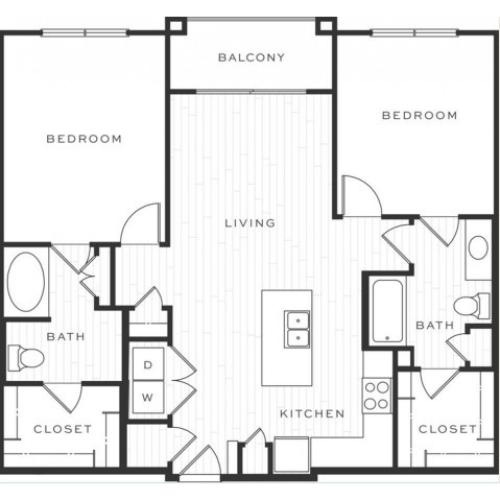 The Cosmopolitan b | 2 bed 2 bath | from 1105 square feet