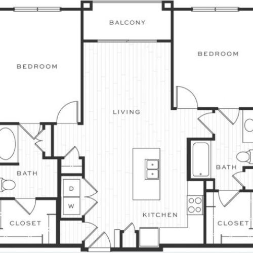 The Cosmopolitan c | 2 bed 2 bath | from 1107 square feet