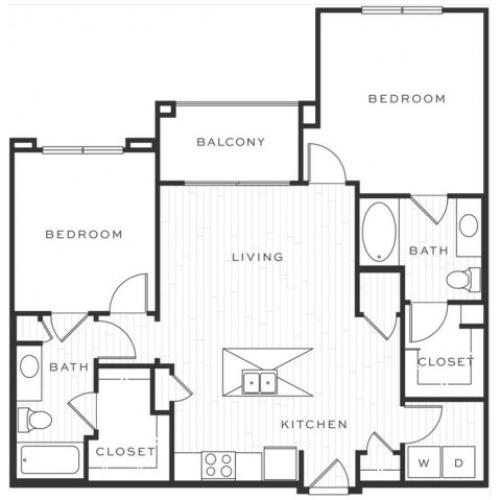 The Mojito c | 2 bed 2 bath | from 1032 square feet