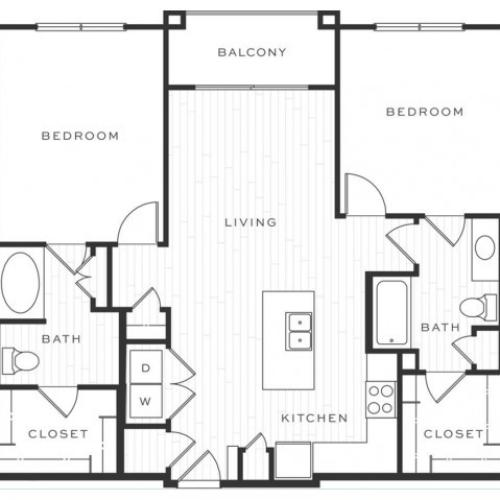 The Cosmopolitan d | 2 bed 2 bath | from 1107 square feet