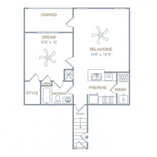 a1ug | 1 bed 1 bath | from 838 square feet