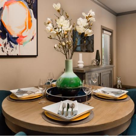 Elegant Dining Room | Sapphire Bay Apartments |